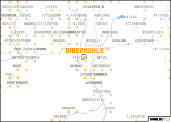 map of Bibermühle