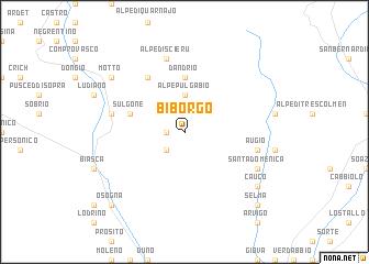map of Biborgo