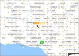 map of Bibruck