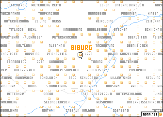 map of Biburg
