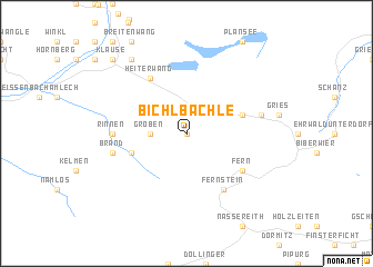 map of Bichlbächle
