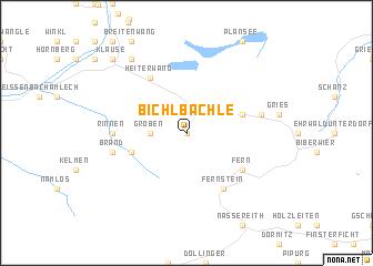 map of Bichlbächle