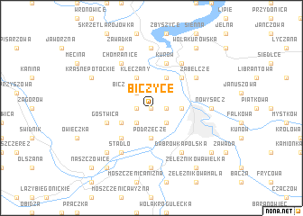 map of Biczyce