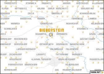 map of Bieberstein