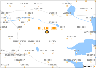 map of Bielakowo