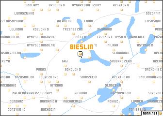 map of Bieślin