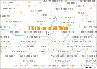 bietigheim bissingen germany map. Black Bedroom Furniture Sets. Home Design Ideas