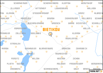 map of Bietikow