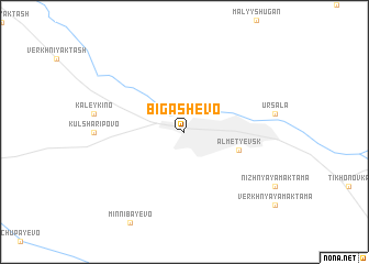 map of Bigashevo