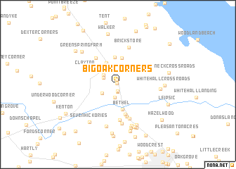map of Big Oak Corners