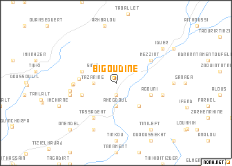 map of Bigoudine