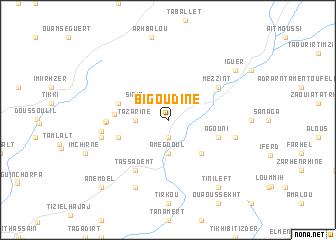 map of Bigoudine