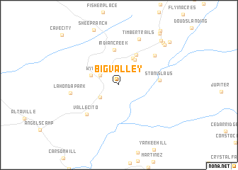 map of Big Valley