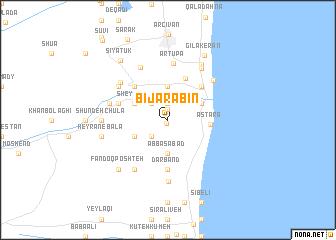map of Bījārābīn