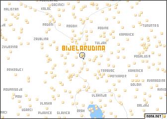map of Bijela Rudina