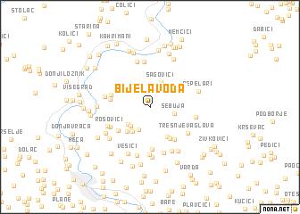 map of Bijela Voda