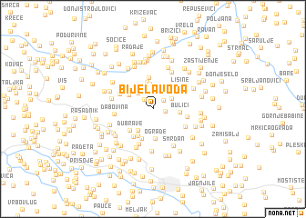 map of Bijela Voda