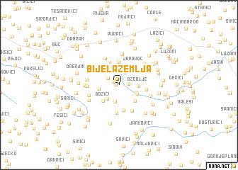 map of Bijela Zemlja