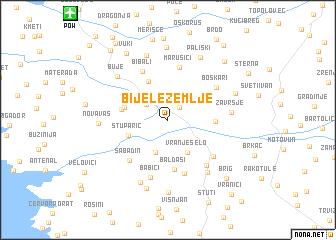 map of Bijele Zemlje