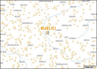 map of Bijelići