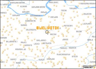 map of Bijeli Potok