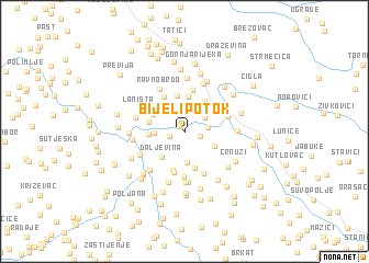 map of Bijeli Potok