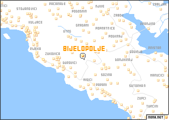 map of Bijelo Polje