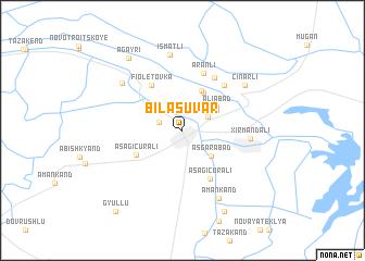 map of Bilǝsuvar