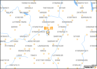 map of Bilin
