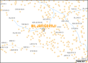 map of Biljani Gornji