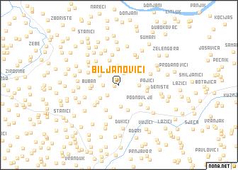 map of Biljanovići
