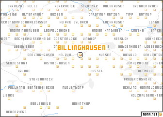 map of Billinghausen