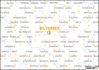 map of Bílý Kámen