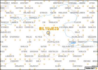 map of Bílý Újezd