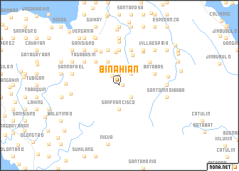 map of Binahian
