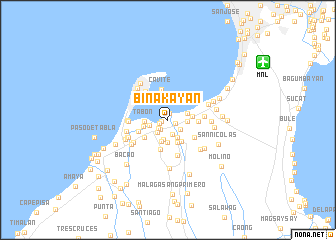 map of Binakayan