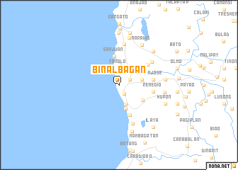 map of Binalbagan