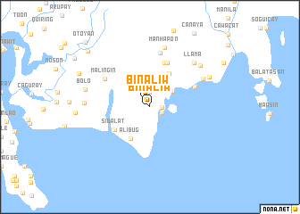 map of Binaliw