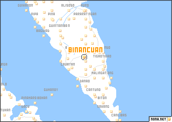 map of Binancuan
