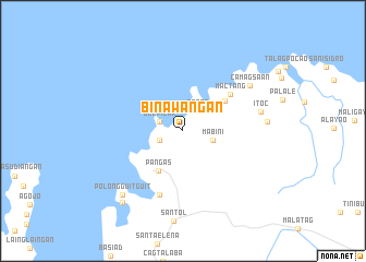 map of Binawañgan