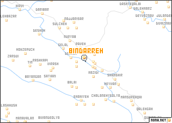 map of Bīndarreh