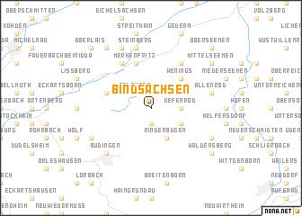 map of Bindsachsen