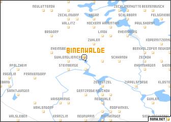map of Binenwalde