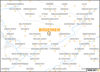 map of Bingenheim