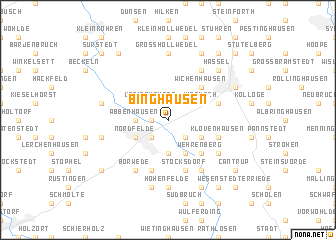 map of Binghausen