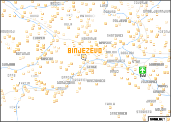 map of Binježevo