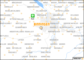 map of Binningen