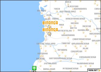 map of Binonga
