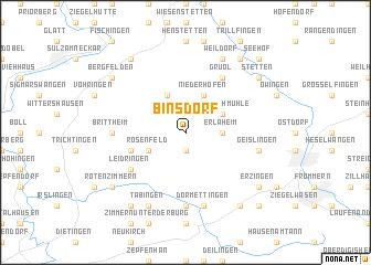 map of Binsdorf