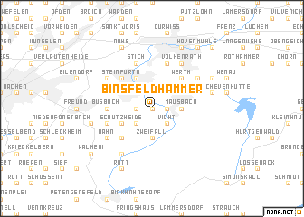 map of Binsfeldhammer